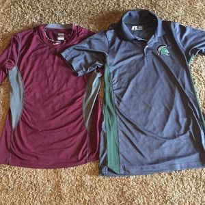 Bundle of 2 men's athletic shirts size small